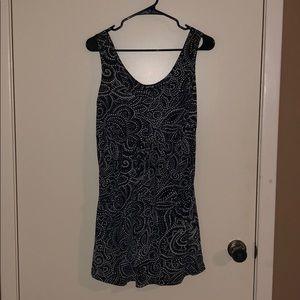 Apt. 9 Black & White Patterned Mini Dress